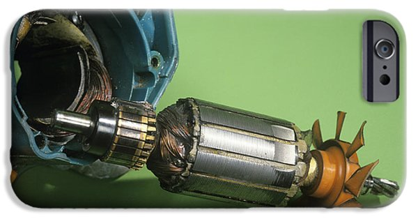 Electrical Component iPhone Cases - Electric Motor iPhone Case by Andrew Lambert Photography