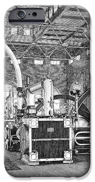 Electric Tramway Generator, 19th Century iPhone Case by