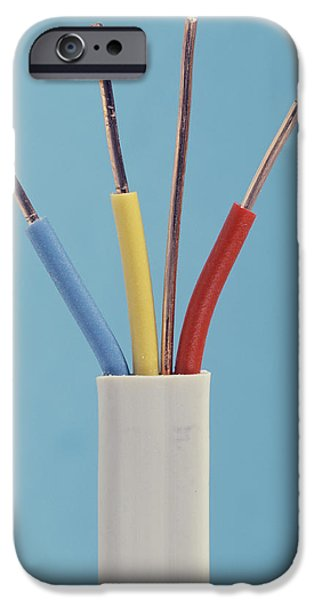 Electrical Equipment iPhone Cases - Electrical Cable iPhone Case by Sheila Terry