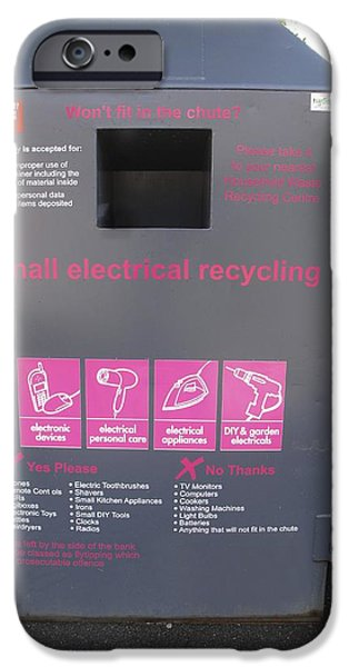 Diy iPhone Cases - Electrical Recycling Bin iPhone Case by Cordelia Molloy