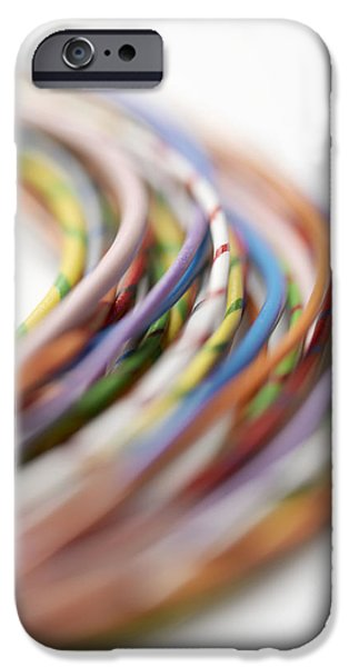Electrical Equipment iPhone Cases - Electrical Wires iPhone Case by Tek Image