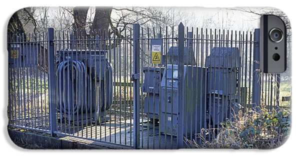 Electrical Equipment iPhone Cases - Electricity Sub-station iPhone Case by Andrew Lambert Photography