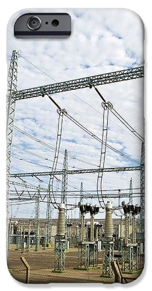 Electricity Substation iPhone Case by Peter Chadwick