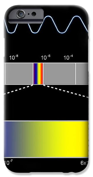 Electromagnetic Spectrum iPhone Case by Seymour