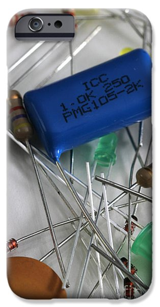 Capacitors iPhone Cases - Electronic Components iPhone Case by Photo Researchers, Inc.