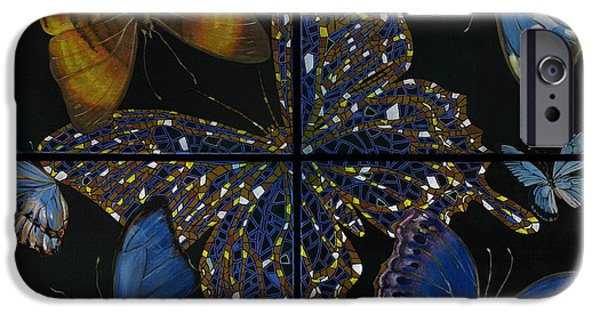 Sensitivity iPhone Cases - Elena Yakubovich Butterfly 2x2 iPhone Case by Elena Yakubovich