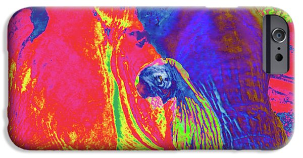 Animal Photograph Mixed Media iPhone Cases - Elephant Extreme iPhone Case by Debra     Vatalaro