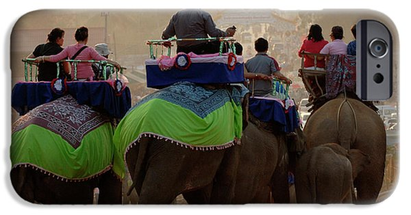 Elephant iPhone Cases - Elephant Festival Laos iPhone Case by Bob Christopher