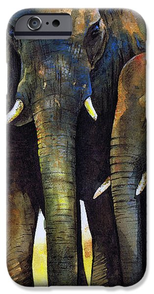 Elephant Herd iPhone Case by Paul Dene Marlor