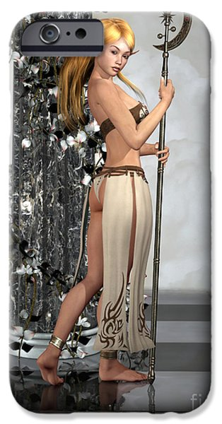 Female Body Digital Art iPhone Cases - Elf Princess iPhone Case by Alexander Butler