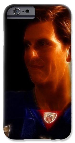 Eli Manning - New York Giants - Quarterback - Super Bowl Champion iPhone Case by Lee Dos Santos