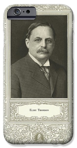 Electronic iPhone Cases - Elihu Thomson (1853-1937), American Engineer iPhone Case by Science, Industry & Business Librarynew York Public Library