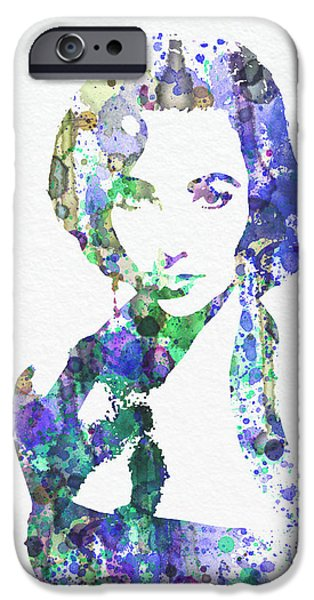Taylor iPhone Cases - Elithabeth Taylor iPhone Case by Naxart Studio