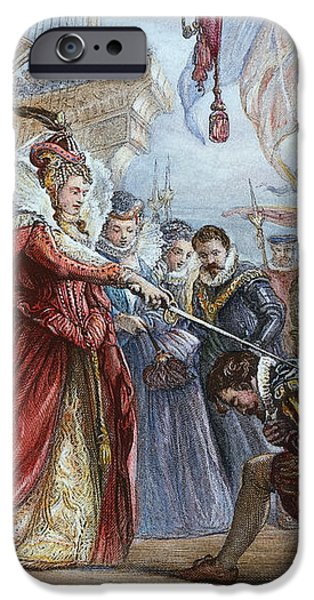 ELIZABETH I/FRANCIS DRAKE iPhone Case by Granger