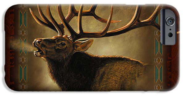 Cabin iPhone Cases - Elk Lodge iPhone Case by JQ Licensing