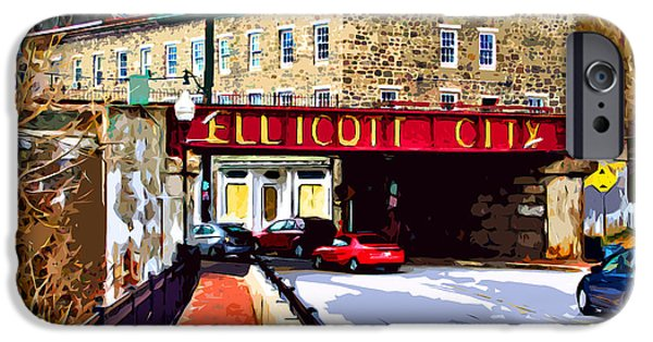 Store iPhone Cases - Ellicott City iPhone Case by Stephen Younts