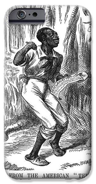 EMANCIPATION CARTOON, 1863 iPhone Case by Granger