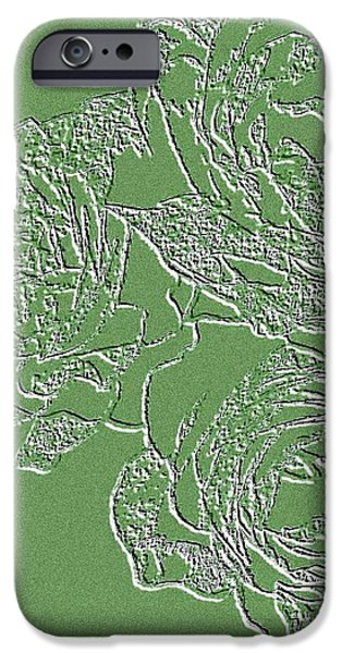 Embossed Roses iPhone Case by Will Borden