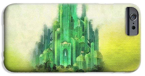 Dreamy iPhone Cases - Emerald City iPhone Case by Mo T