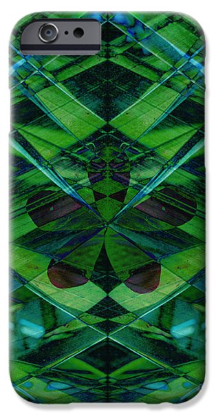 Abstract Digital Mixed Media iPhone Cases - Emerald Cut iPhone Case by Ann Powell