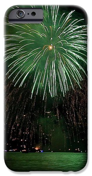 Streams Of Sparks iPhone Cases - Emerald Sky iPhone Case by David Patterson