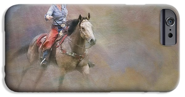 Horse Racing iPhone Cases - Emerging iPhone Case by Susan Candelario