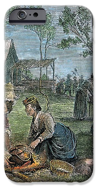 EMIGRANTS: ARKANSAS, 1874 iPhone Case by Granger