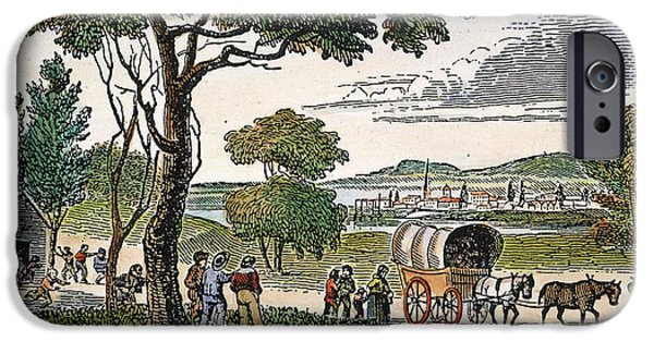 Destiny iPhone Cases - EMIGRANTS TO WEST, c1850 iPhone Case by Granger