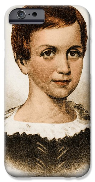 Emily Dickinson, American Poet iPhone Case by Photo Researchers