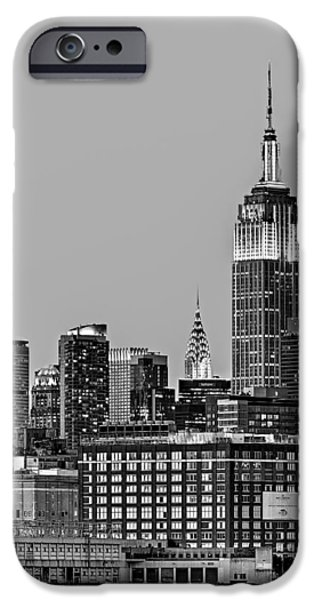Empire State iPhone Cases - Empire State BW iPhone Case by Susan Candelario