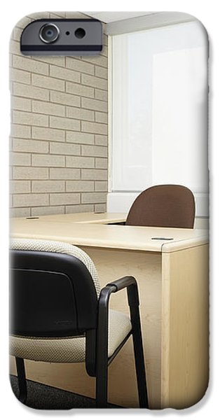Empty Desk in an Office iPhone Case by Skip Nall