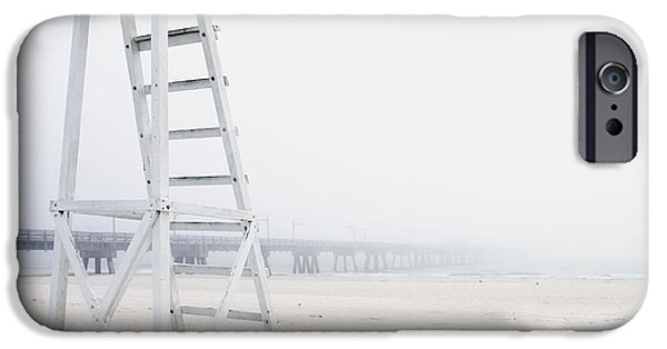 Panama City Beach iPhone Cases - Empty Life Guard Station iPhone Case by Skip Nall