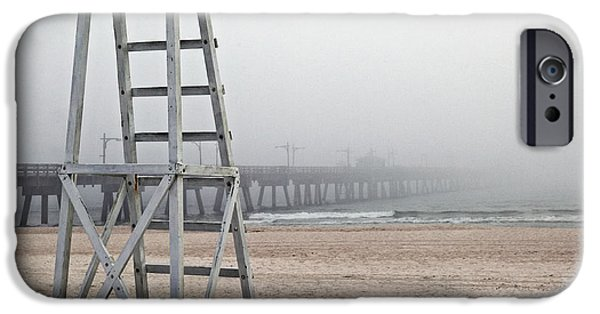 Panama City Beach Photographs iPhone Cases - Empty Lifeguard Chair iPhone Case by Skip Nall