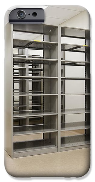 Empty Metal Shelves iPhone Case by Jetta Productions, Inc