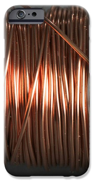 Solenoid iPhone Cases - Enamel Coated Copper Wire iPhone Case by Photo Researchers
