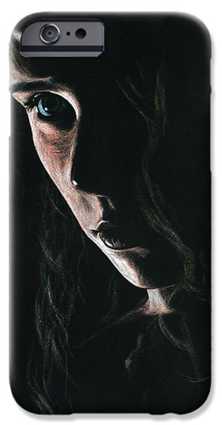 Lady Pastels iPhone Cases - Enchantress iPhone Case by Richard Young