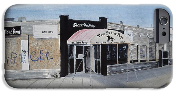 Asbury Park Paintings iPhone Cases - End of an Era iPhone Case by Patricia Arroyo