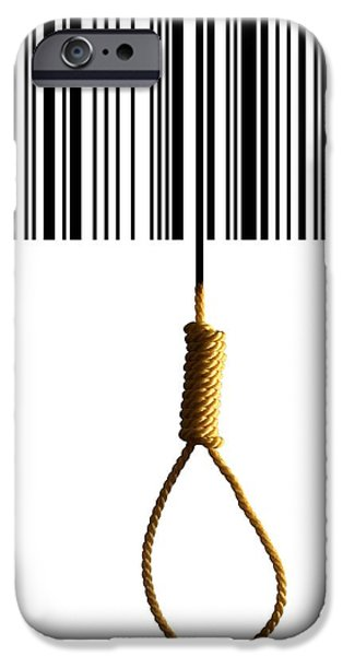 Hangman iPhone Cases - End Of Consumerism, Conceptual Image iPhone Case by Victor De Schwanberg