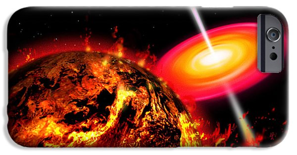 Jet Star iPhone Cases - End Of The World The Earth Destroyed iPhone Case by Ron Miller