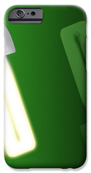 Energy-saving Light Bulbs, Artwork iPhone Case by Victor Habbick Visions