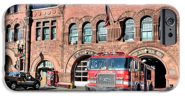 Boston Ma iPhone Cases - Engine 33 iPhone Case by JC Findley