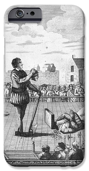 ENGLAND: BEHEADING, 1554 iPhone Case by Granger