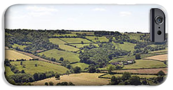 Agricultural iPhone Cases - English countryside panorama iPhone Case by Jane Rix