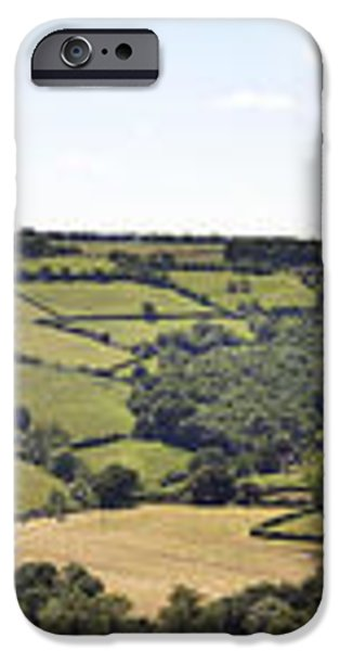 English countryside panorama iPhone Case by Jane Rix