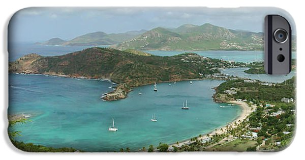 Sea iPhone Cases - English Harbour Antigua iPhone Case by John Edwards