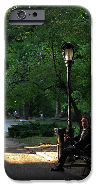Enjoying the Moment in Central Park iPhone Case by Lee Dos Santos