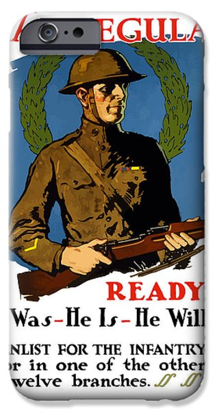One iPhone Cases - Enlist For The Infantry iPhone Case by War Is Hell Store