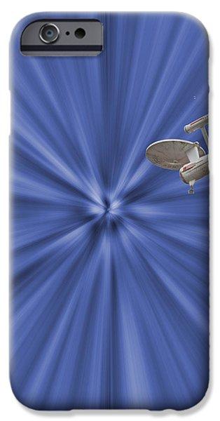 Entering Warp Speed iPhone Case by Peggie Strachan