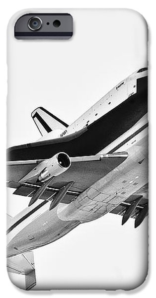 Enterprise Shuttle NY Flyover iPhone Case by Regina Geoghan