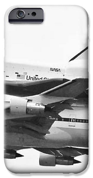 Enterprise Shuttle NYC -Black and White  iPhone Case by Regina Geoghan